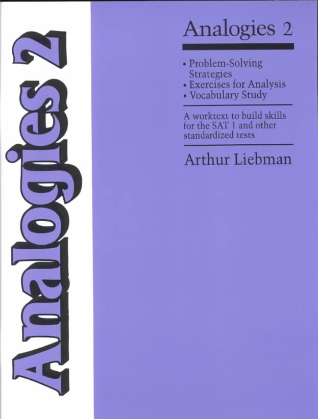 Analogies 2 By Liebman, Arthur